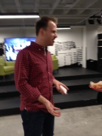 Nick happy to advise attendees at a recent Startup Grind in Virginia.