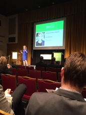 Author Amy Wilkinson delivers keynote at Techbuzz Spring 2015 at the Sphinx Club in Washington, DC.