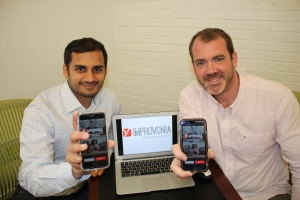 Improvonia's co-founders, Jag Bansal and Konstantin Zvereff (LtoR), started building their app with as a project while students at Georgetown's MBA program.