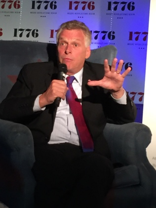 Virginia Governor Terry McAuliffe shows his entrepreneurial side to DC's Startup Grind community..