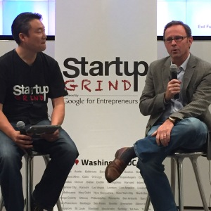 AOL CTO, William Pence, (Right) and Startup Grind DC director, Brian Park have more in common than AOL.